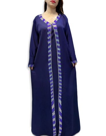 Elegant African Moroccan Beaded Crystal Embroidery Party Dubai Kaftan For Women