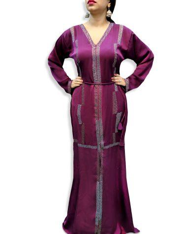 African Attire Designer Rhinestone Velvet 2 Piece Kaftan Dresses Party Wear for Women