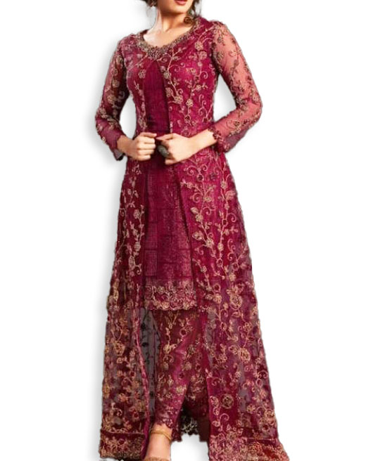 Elegant Branded New Designer Evening Party & Wedding Wear Anarkali Suit for Women
