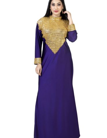 New Fancy Collection Evening Design For Women's Beaded Collared Kaftan For Women