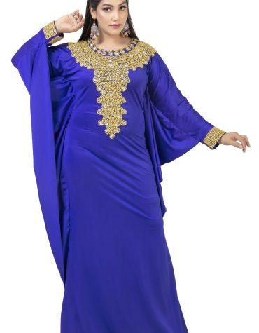 New Elegant Moroccon Formal Gold Beaded Fancy Kaftan Dresses Party Wear for Women