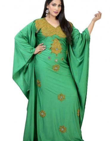 African Latest Moroccan Beaded Fancy Wedding Party Wear Lycra kaftan for Women