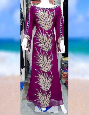 African Attire Muslim Dubai Abaya Caftan Women Style Beaded kaftan
