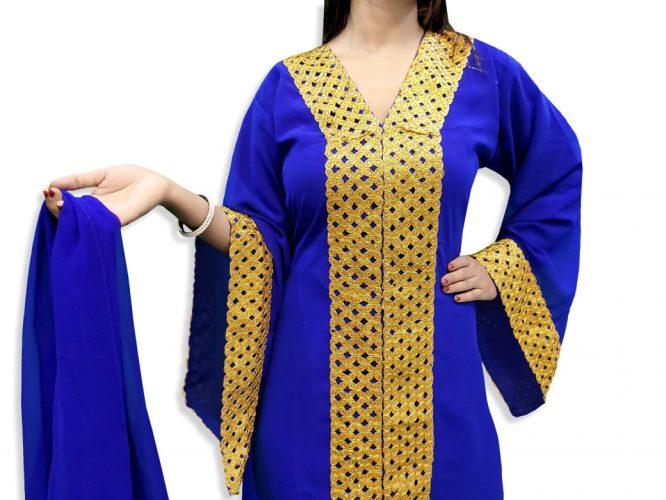 Latest Designer Elegant Wedding Collection Arabian Kaftan Dress Fancy Gown for Women