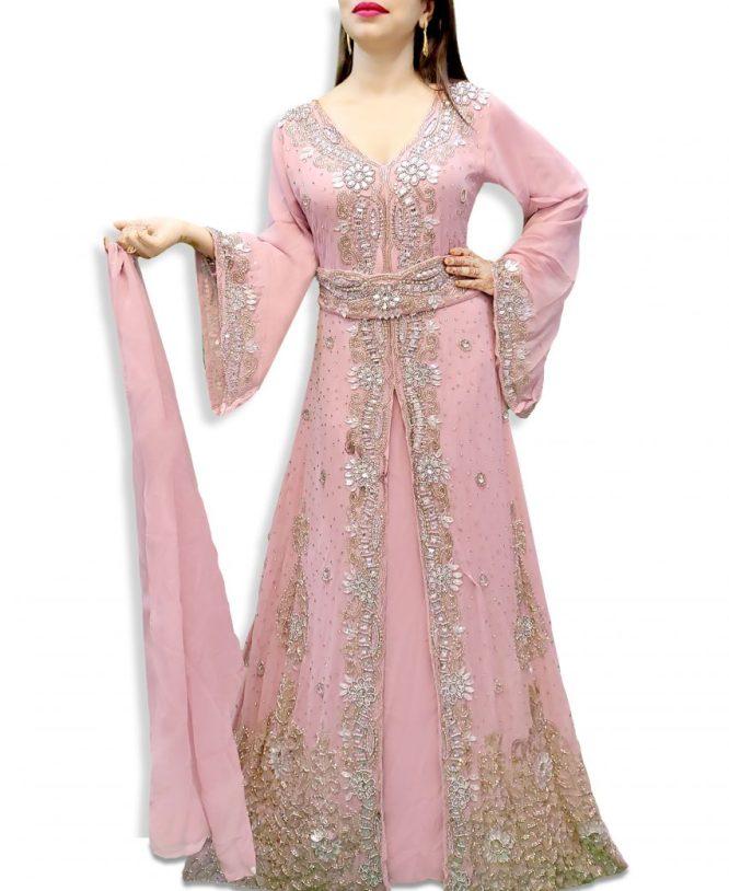 Premium Collection Wedding Abaya Long Maxi Formal Beaded Dubai Kaftan for Women
