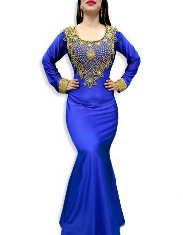 African new Morrocon Beaded Mermaid Evening Wedding Spandex Kaftan For Women