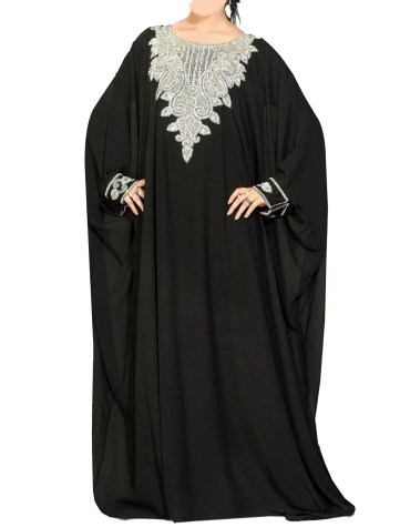 Elegant formal Silver Beaded Gown African Dresses for Women Moroccan kaftan
