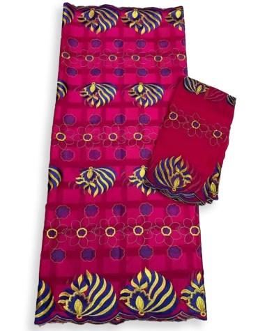 New Premium Quality Swiss Voile Designer Cotton Piece Dubai Embroidery Dress Material