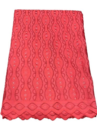 African Trendy Dry Lace Cotton Embroidery Design Dress Material Party For Women