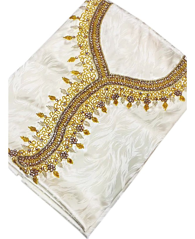 African Attire Satin Silk Dress Golden Material Party Wear Evening For Women