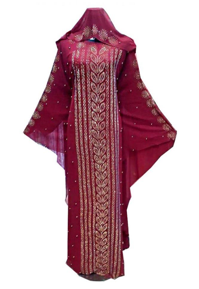 African New Long Sleeve Design Wedding Evening Abaya Dress Party Wear for Women