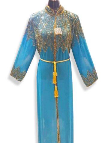New Premium Arrived Trendy Plus Crystal Beaded Jacket Kaftan Dresses For Women