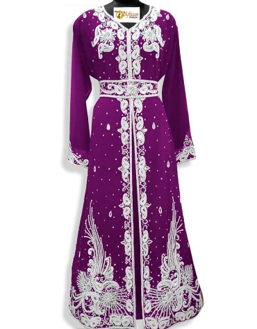 Wedding Abaya Long Maxi Formal Moroccan Beaded Dubai Kaftan for Bridesmaids