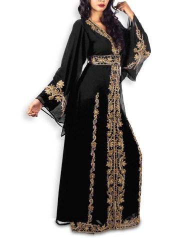 African Dubai Muslim Abaya Long Sleeve Wedding Gown Party Dresses For Women