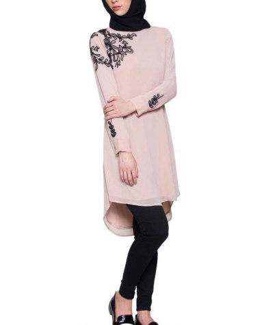 Summer Daily Wear stylish Black Embroided beautiful designer tunic kurti for women