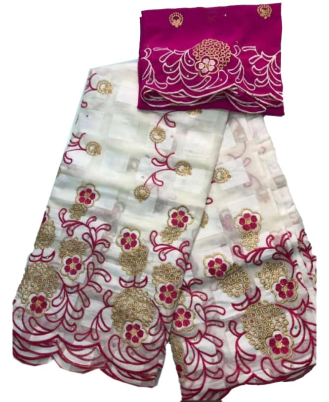 Special Adition African Attire Swiss Voile Cotton with Designer Embroidery Work
