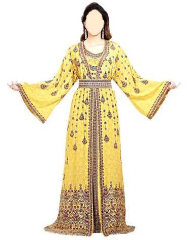 African Attire New long Sleeve Party Wear Kaftan beded Wedding Dresses For Women