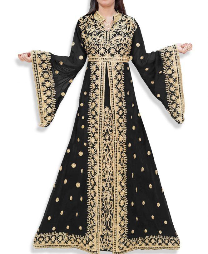 Exclusive Dubai Party Wear Kaftan Embroidery Wedding Gown