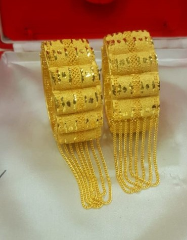 New Latest and Chain African Designer Formal Party Wear Bangles