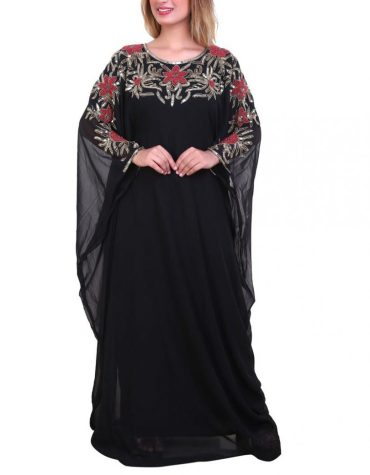Latest Fashion Collection Kaftan Premium Elegant Beaded Work Party Wear For Women