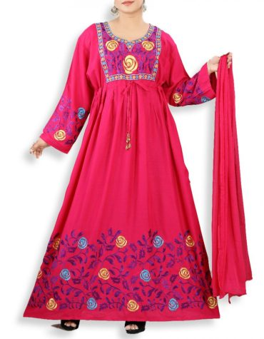 Trendy Collection Of Rayon Stitched Long Gown With Floral Print For Women
