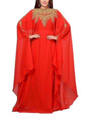 Floral Super Designer Dubai Kaftan Elegant Jalabiya Maxi Gown Beaded Work Party Dress
