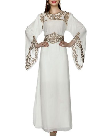 Classic Super Elegant Party Maxi Gown Formal Embroidery Kaftan Dresses For Women