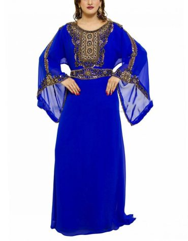 Collection Dubai Kaftan Elegant Party Gown Designer Beaded Work Dress For Women