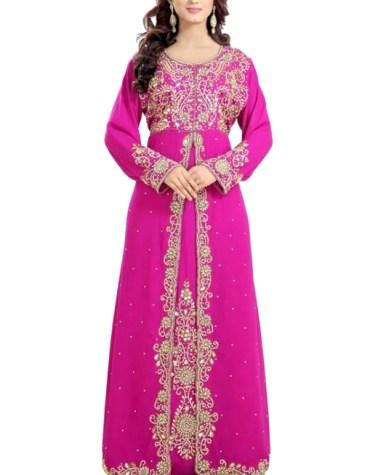Designer Fancy Collection Dubai Kaftan Elegant Premium Beaded Work Dress For Women