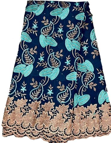 Women Embroidered Wedding Attire Swiss voile Cotton with dress Material For Women