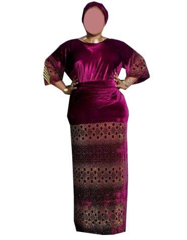 New Elegant Stylish Attire Velvet Kaftan Elegant Rhinestone work For Women