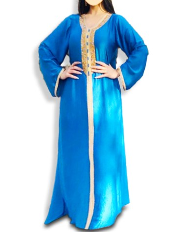 Elegant Designer Party Wear Collection Satin Silk Kaftan For Women