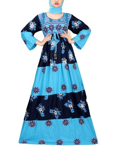 Designer Collection Fancy Embroidered Rayon Women Long Dress Stitched Floral Gown