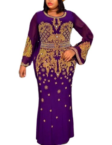 New Designer Collection Stylish Beaded Spandex Party Kaftan Maxi Dresses For Women
