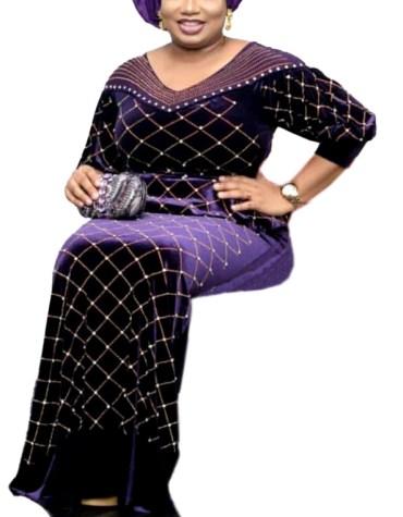 Newly Brilliant Elegant Velvet Party Kaftan With Golden Stylish Beaded Work For Women