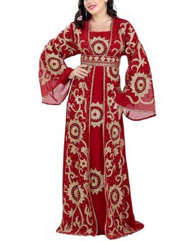 New Designer Collection Women Muslim Bridesmaids Dress Plus Size Jacket Dubai Kaftan