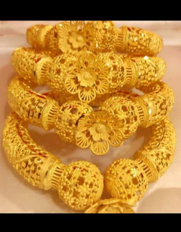 New Arrival Floral African Design Trendy Bangles Jewelry For Women