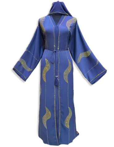 New Nida Fabric All over Rhinestone Work Abaya Dress Party Wear For Women