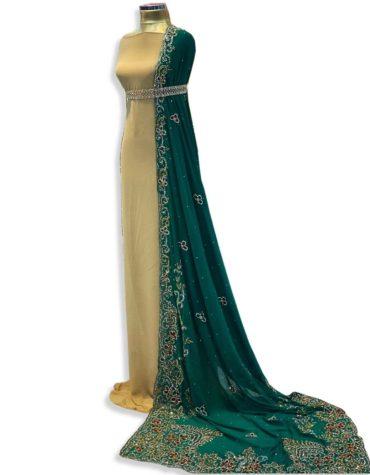 African Attire Wedding Beaded Designer Bridesmaid Dress Material