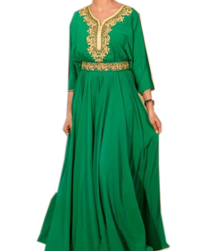 New Designer Formal Kaftan with Belt Party Gown for Women