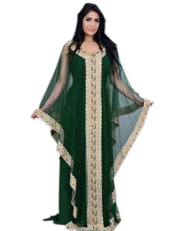 African Clothing Gold Lace Party Plus Size Kaftan Evening Dress for women