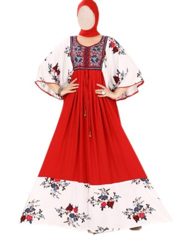 New Attire Cotton Mix Embroidered Summer Dress For Women
