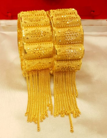 New African Design Trendy Pair of Bangles Jewelry For Women
