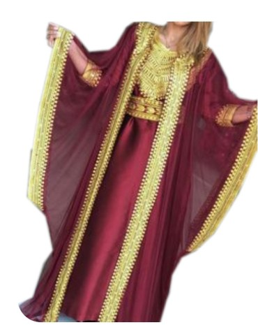 Tulle Shrug Kaftan With Golden Beaded Lace Design Work for kids