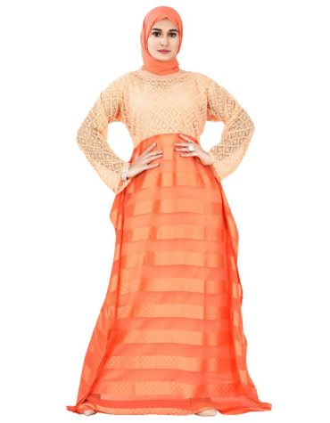 Designer African Attire Stylish Rayon Net Gown For Women
