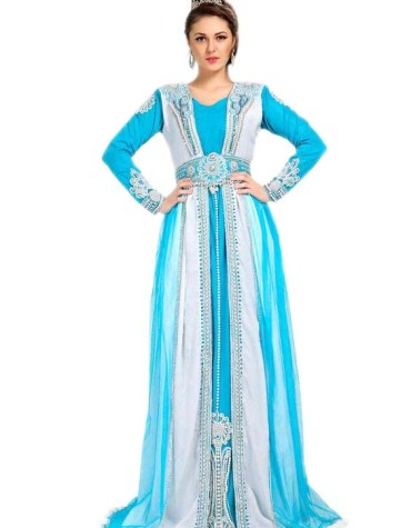 Amazing Jacket Style Kaftan With Outer Belt Dress for Women