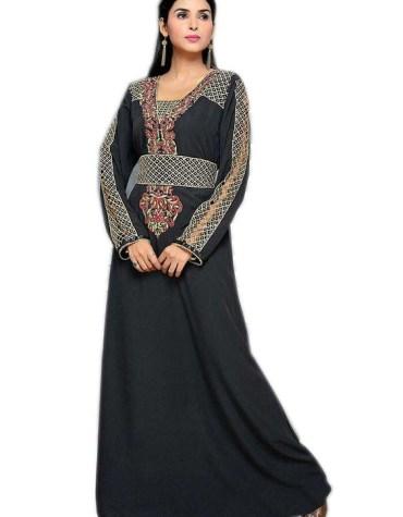Dubai Kaftan Lace work Full Selves Velvet Party Wear Women dress