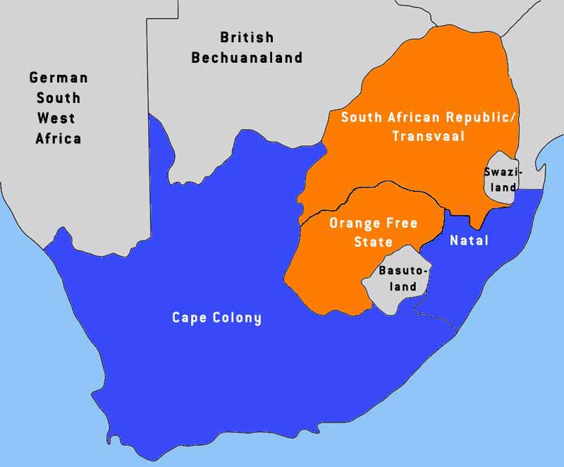 Various proposed maps for a FUTURE WhitesOnly state in South Africa