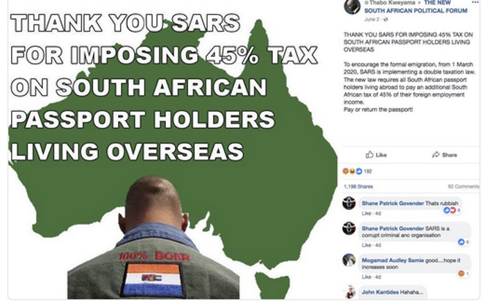 s africa black anc govt s double taxes to drive whites out