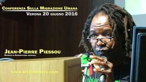 Conferenza sulla migrazione umana – Jean-Pierre Piessou – Docente di antropologia Africana